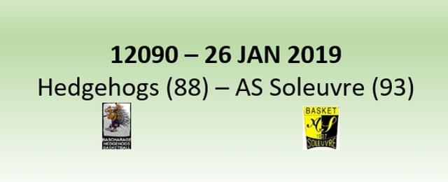 N2H 12090 Hedgehogs Bascharage (88) - Soleuvre (93) 26/01/2019