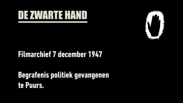 1947. Begrafenis Politieke gevangenen