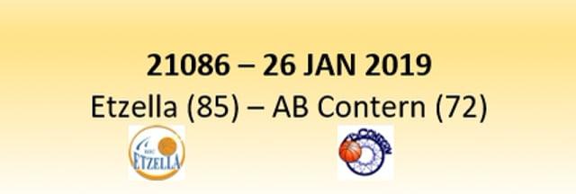 N1D 21086 Etzella Ettelbruck (85) - AB Contern (72) 26/01/2019