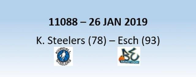 N1H 11088 Kordall Steelers (78) - Basket Esch (93) 26/01/2019