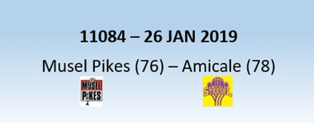 N1H 11084 Musel Pikes (76) - Amicale Steinsel (78) 26/01/2019