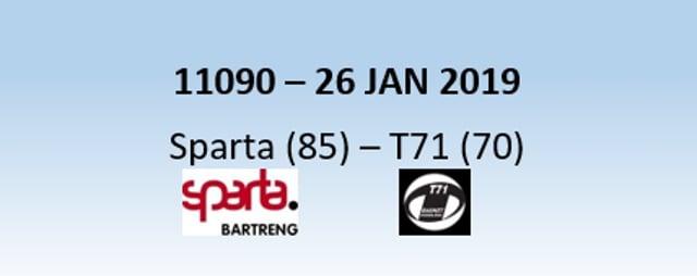 N1H 11090 Sparta Bertrange (85) - T71 Dudelange (70) 26/01/2019
