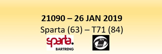N1D 21090 Sparta Bertrange (63) - T71 Dudelange (84) 26/01/2019