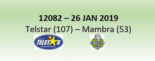 N2H 12082 Telstar Hesperange (107) - Mambra Mamer (53) 26/01/2019