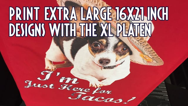 "Print 16""x 21"" Designs with the XL Platen - Brother GTX Tutorials"