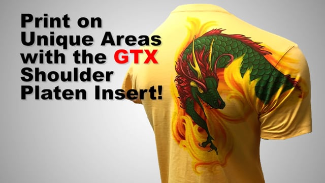 Printing with the Shoulder Platen Insert on GTX - Brother DTG Tutorial