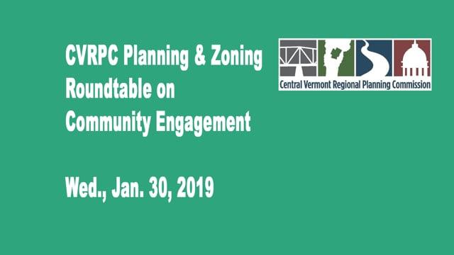 CVRPC Planning & Zoning Roundtable on Community Engagement