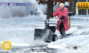 Snow Blowing Granny Blows Up the Internet