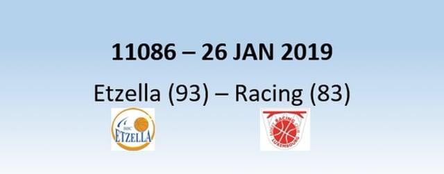N1H 11086 Etzella Ettelbruck (93) - Racing Luxembourg (83) 26/01/2019