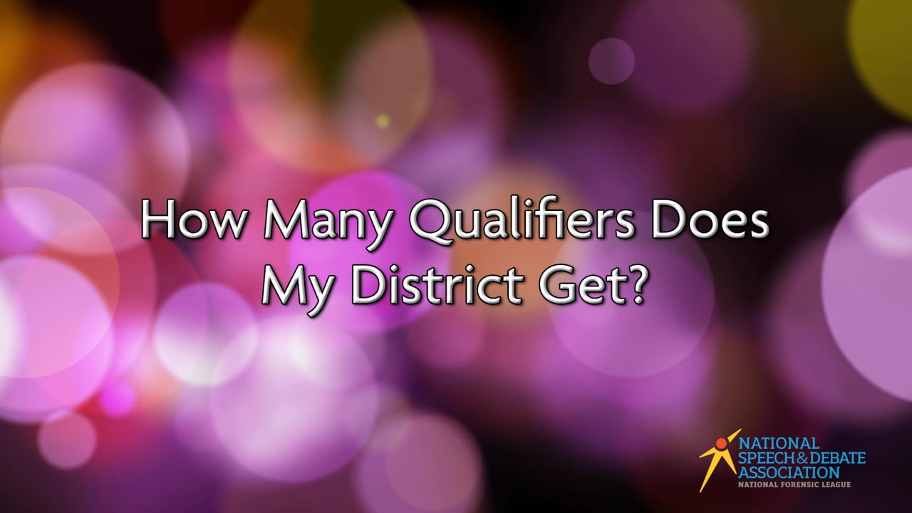 How Many Qualifiers Does My District Get?