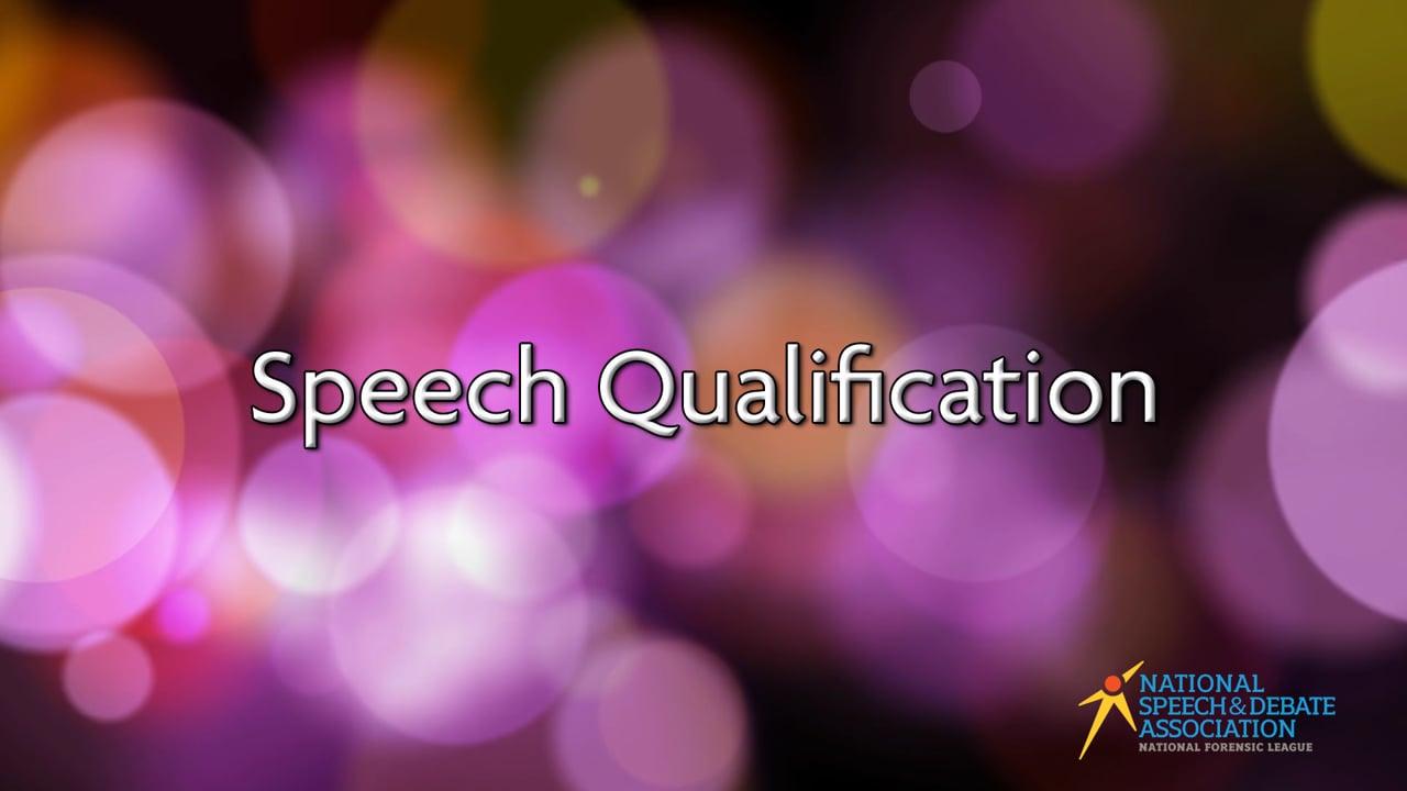 Speech Qualification