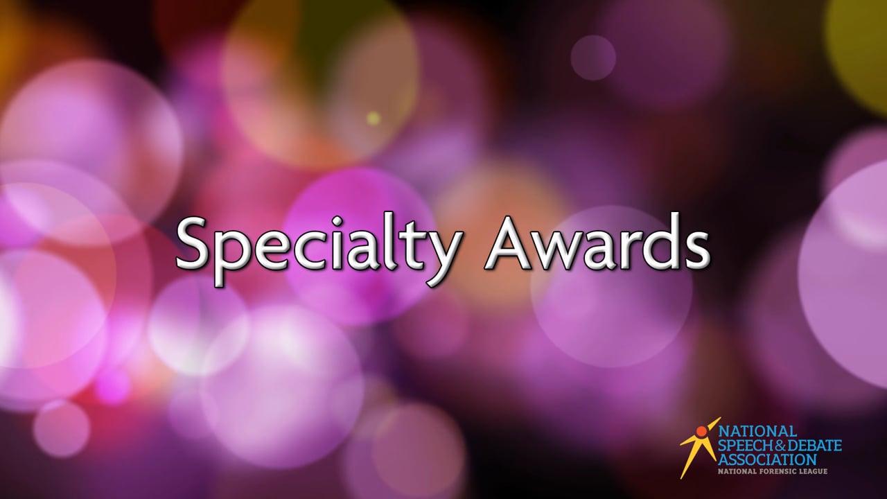 Specialty Awards