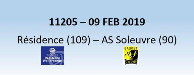 N1H 11205 Résidence Walferdange (109) - AS Soleuvre (90) 09/02/2019
