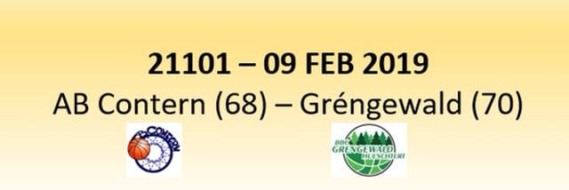N1D 21101 AB Contern (68) - Gréngewald Hueschtert (70) 09/02/2019