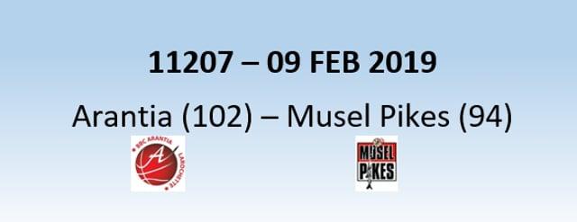 N1H 11207 Arantia Larochette (102) - Musel Pikes (94) 09/02/2019