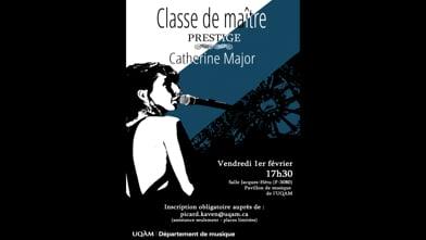Classe de maître avec Catherine Major