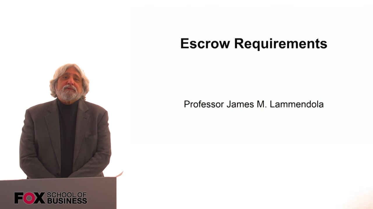 61301Escrow Requirements