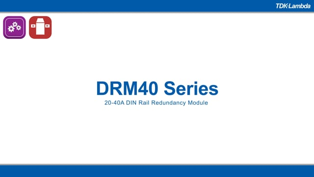 DRM40 20-40A DIN Rail Redundancy Modules Video
