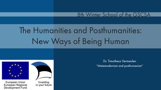 Dr. Timotheus Vermeulen - Metamodernism and posthumanism