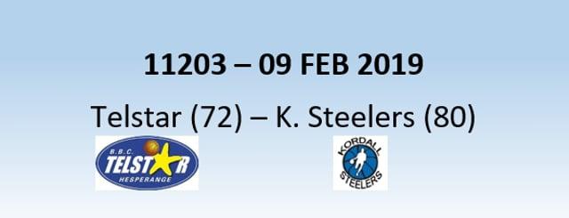 N1H 11203 Telstar Hesperange (72) - Kordall Steelers (80) 09/02/2019