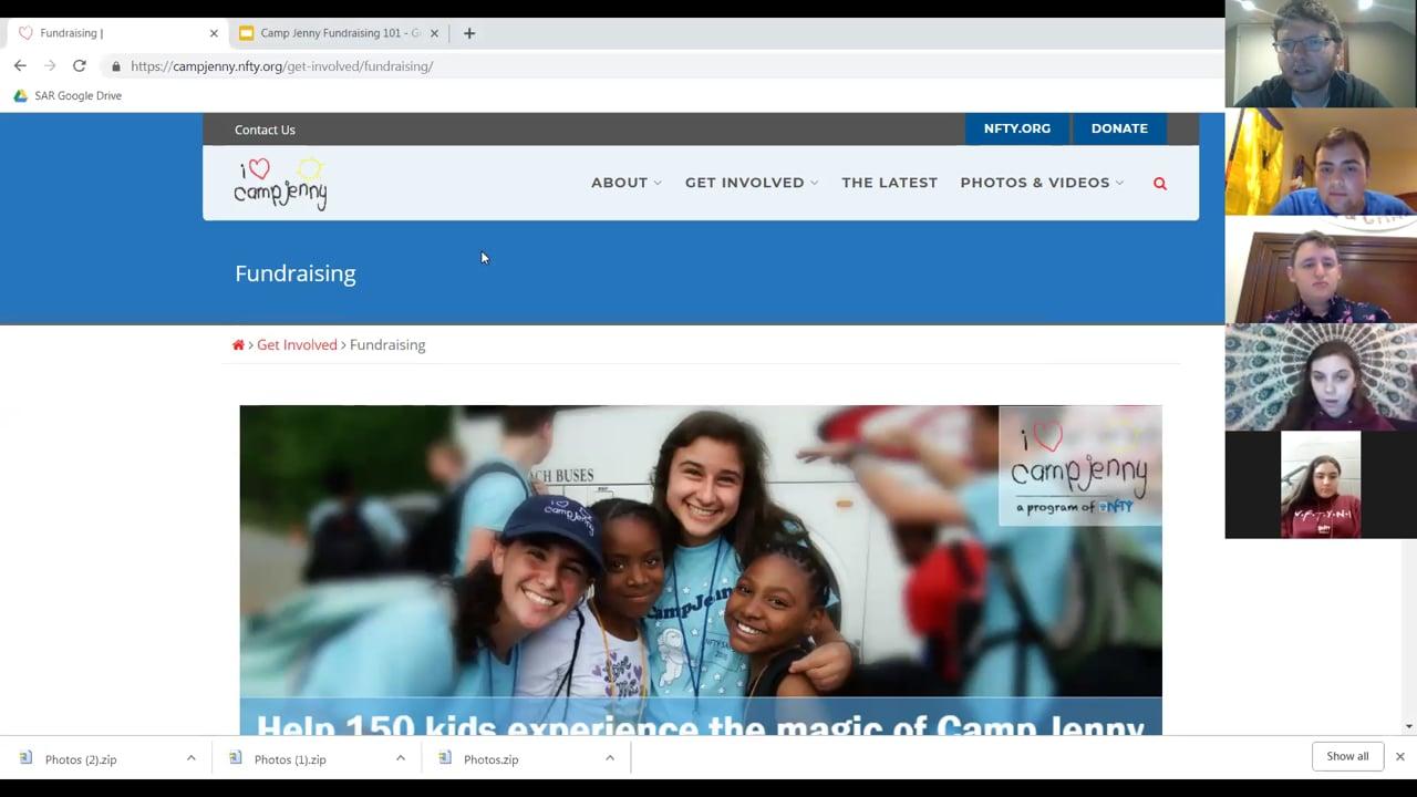 Camp Jenny Fundraising Training
