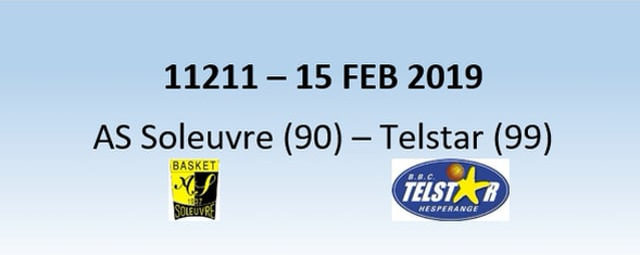 N1H 11211 AS Soleuvre (90) - Telstar Hesperange (99) 15/02/2019