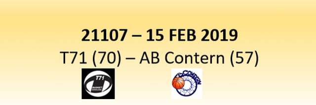 N1D 21107 T71 Dudelange (70) - AB Contern (57) 15/02/2019