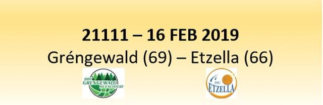 N1D 21111 Gréngewald Hueschtert (69) - Etzella Ettelbruck (66) 16/02/2019