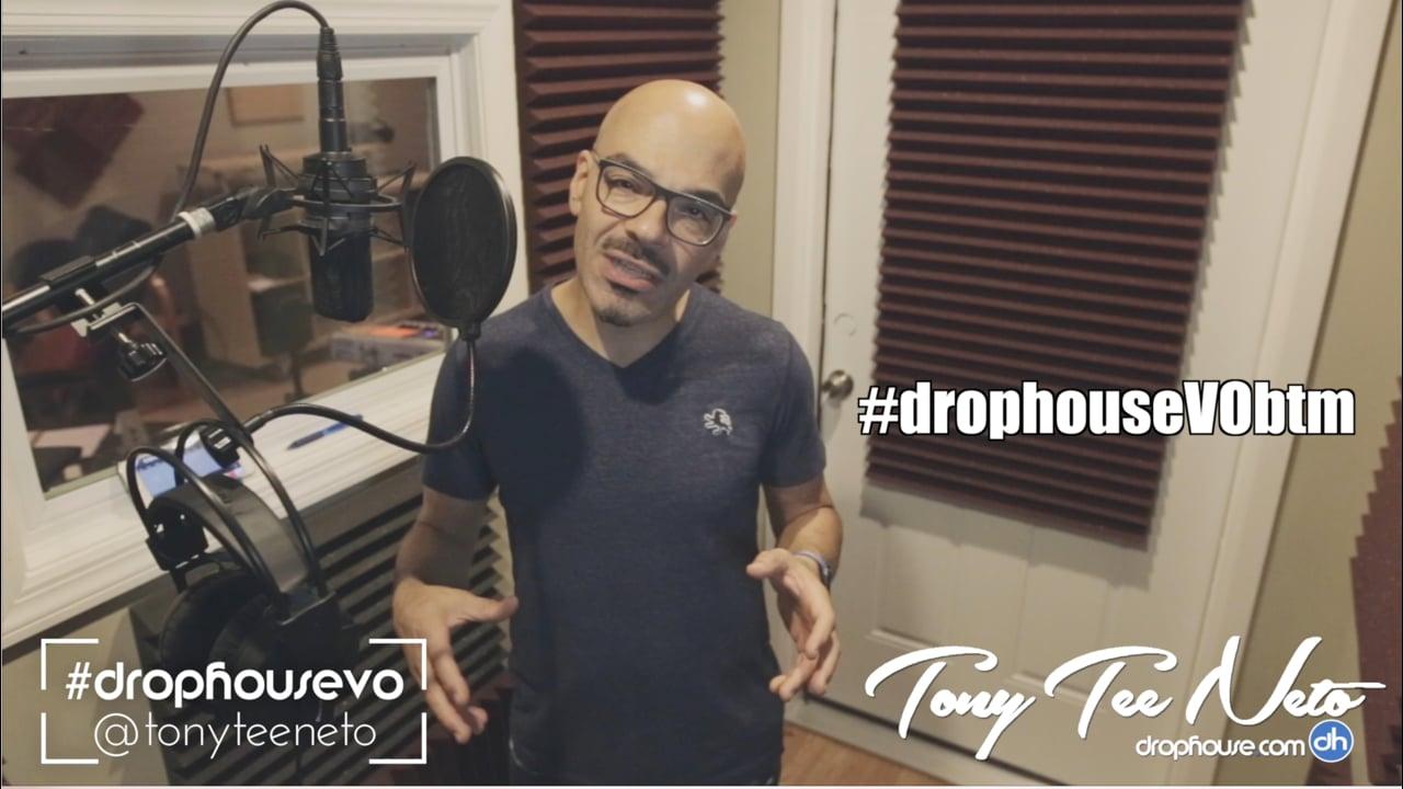 DropHouseVO Behind The Mic - Create Drops & Voiceovers -  PhDJ Podcast - Tony Tee Neto