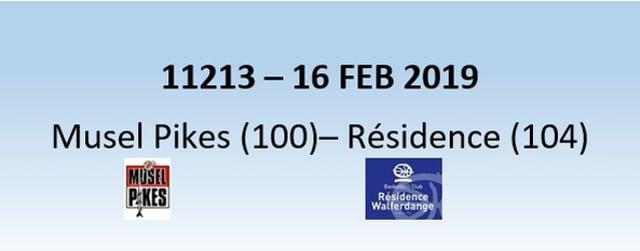 N1H 11213 Musel Pikes (100) - Résidence Walferdange (104) 16/02/2019