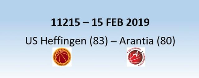 N1H 11215 US Heffingen (83) - Arantia Larochette (80) 15/02/2019