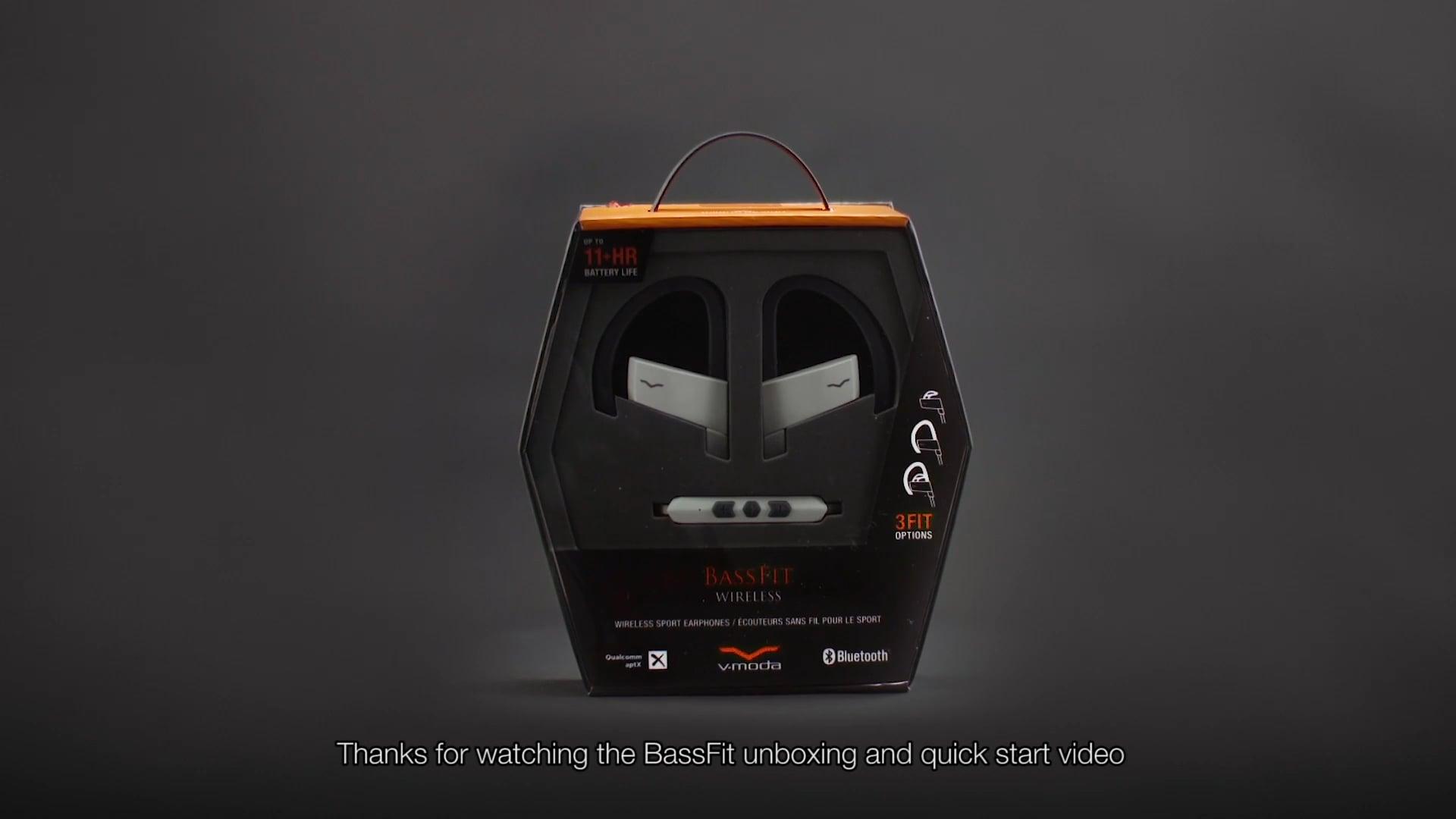 V-MODA Unboxing Bassfit Wireless