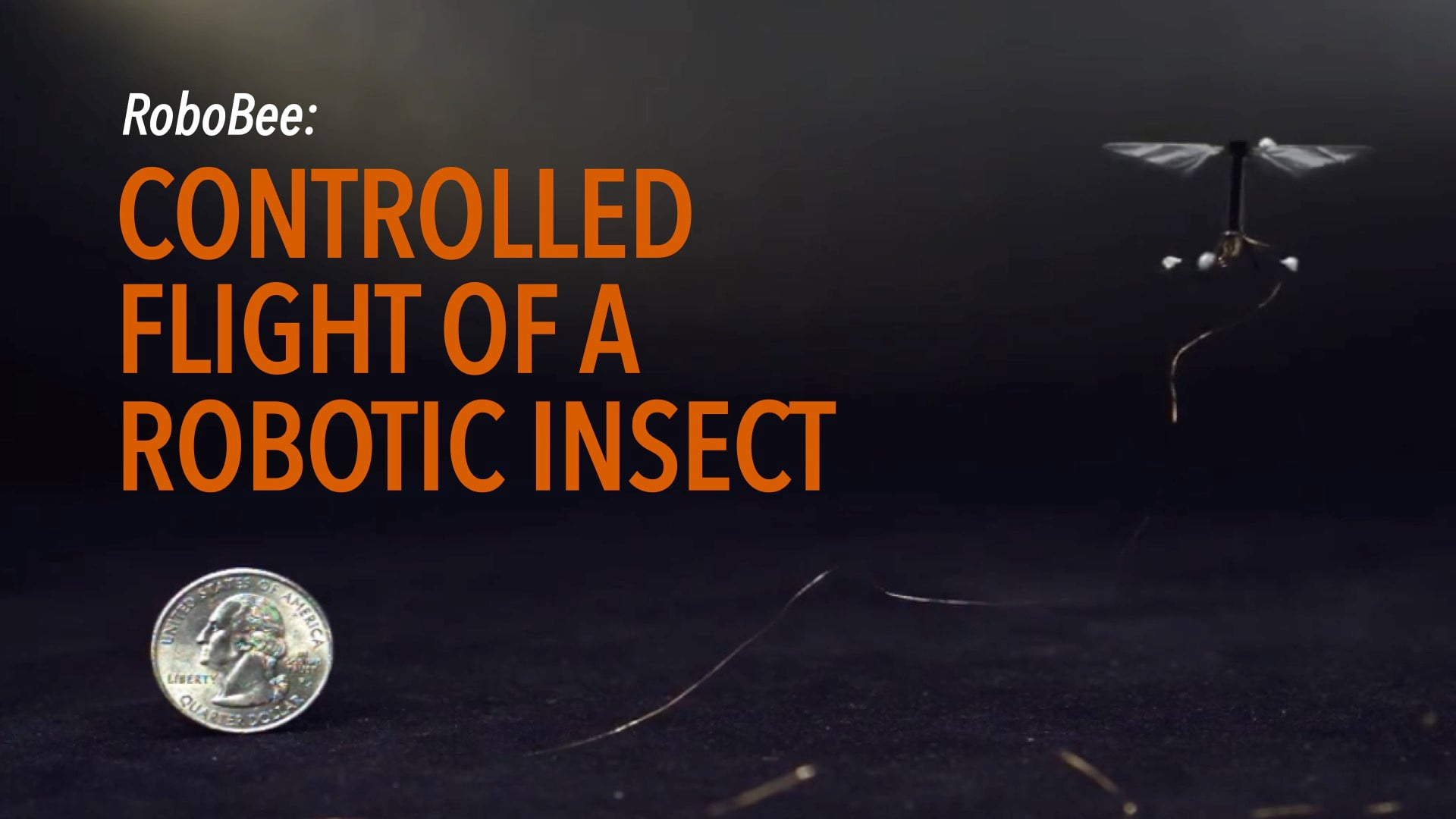 RoboBee: Controlled flight of a robotic insect