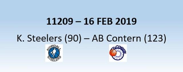 N1H 11209 Kordall Steelers (90) - AB Contern (123) 16/02/2019