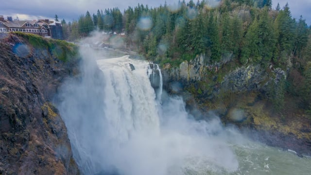 Snoqualmie Falls after Heavy Rain, Washington State
