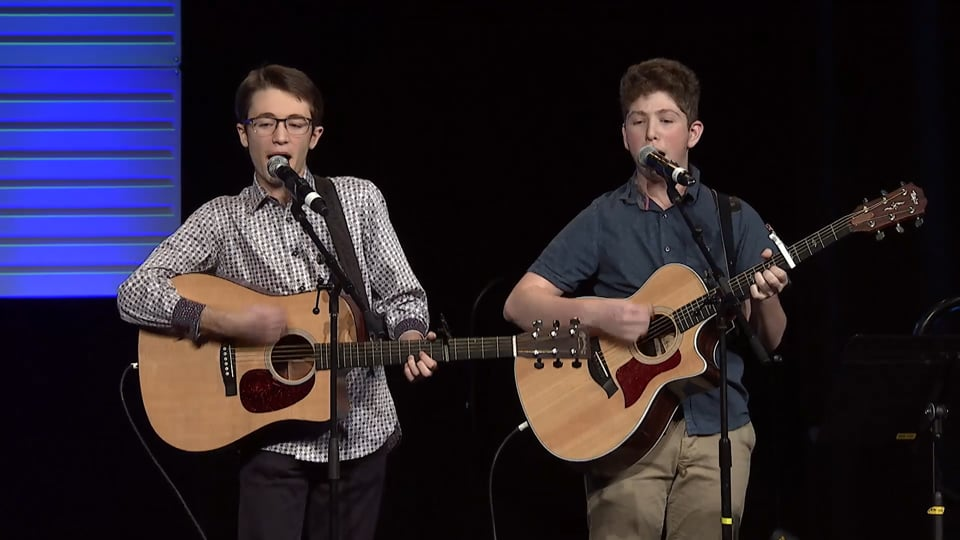 Jacob Fishman and Jordan Schmidt Performing Their Winning Song at NFTY Convention!