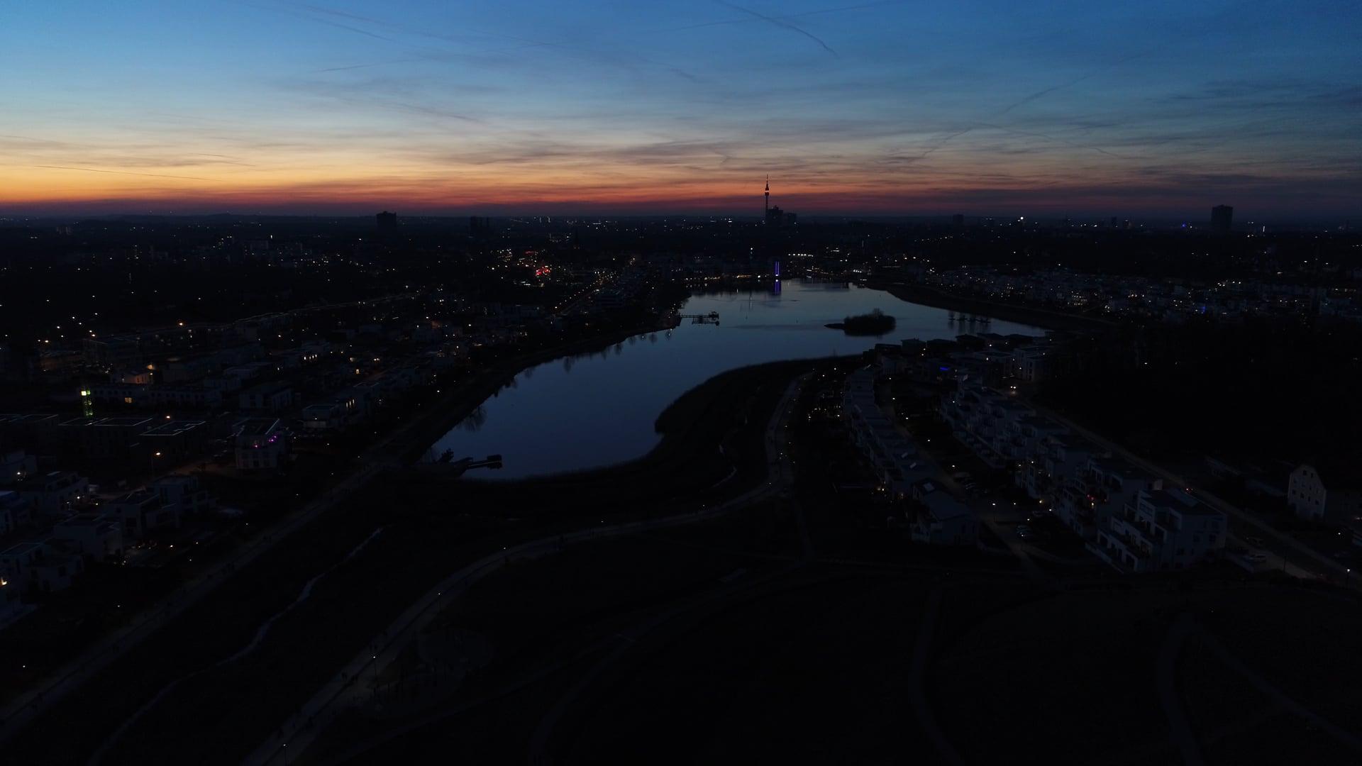 Am Phoenix See nach Sonnenuntergang