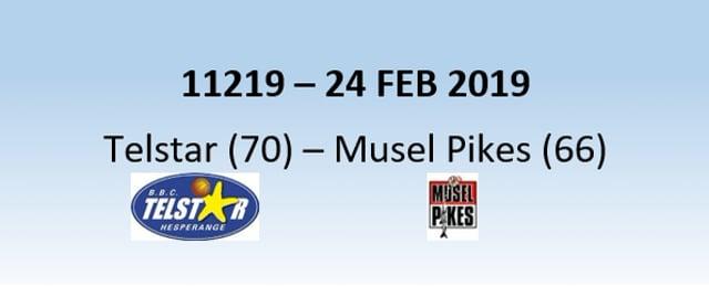 N1H 11219 Telstar Hesperange (70) - Musel Pikes (66) 24/02/2019