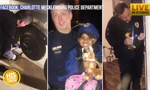 Charlotte Police Officers Go Big to Help Single Mom
