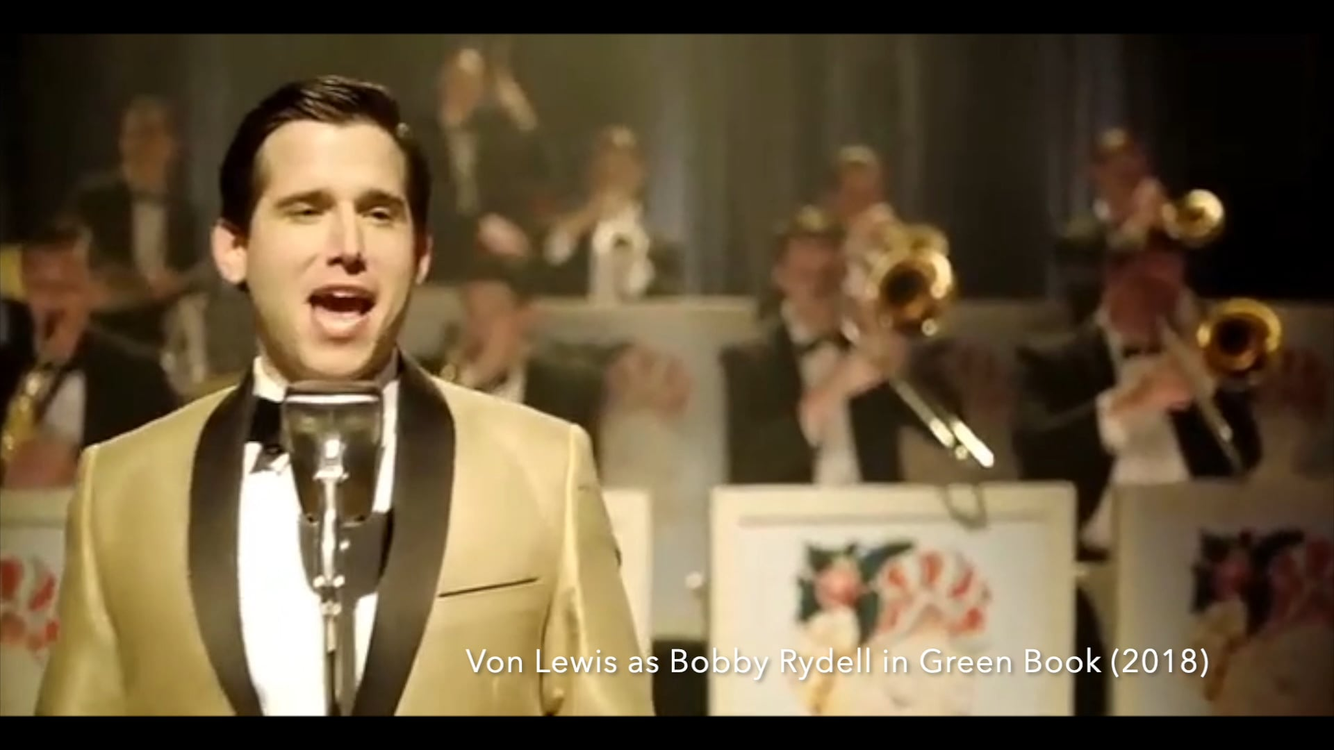 Von Lewis as Bobby Rydell in Green Book (Film) Segment Promo purposes only