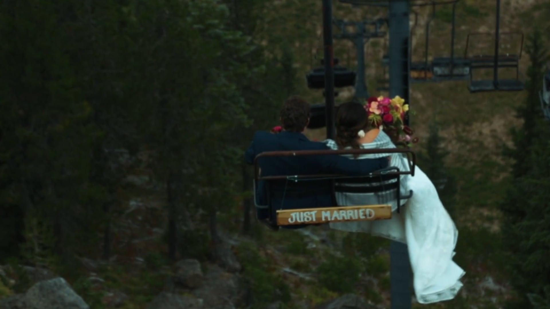 Addison and Ian Wedding Highlight, Mt. Hood Ski Bowl