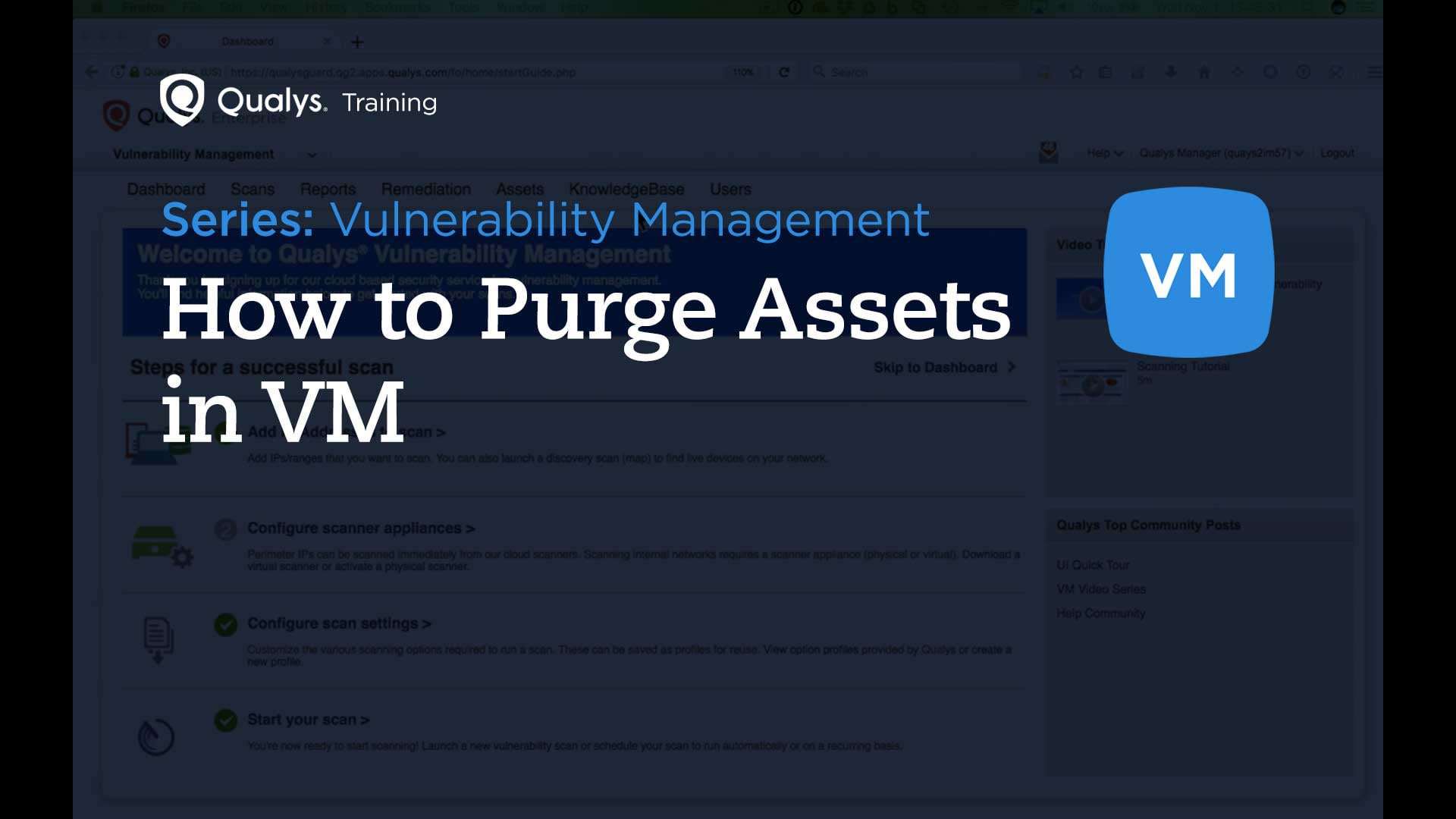 How to Purge Assets in VM