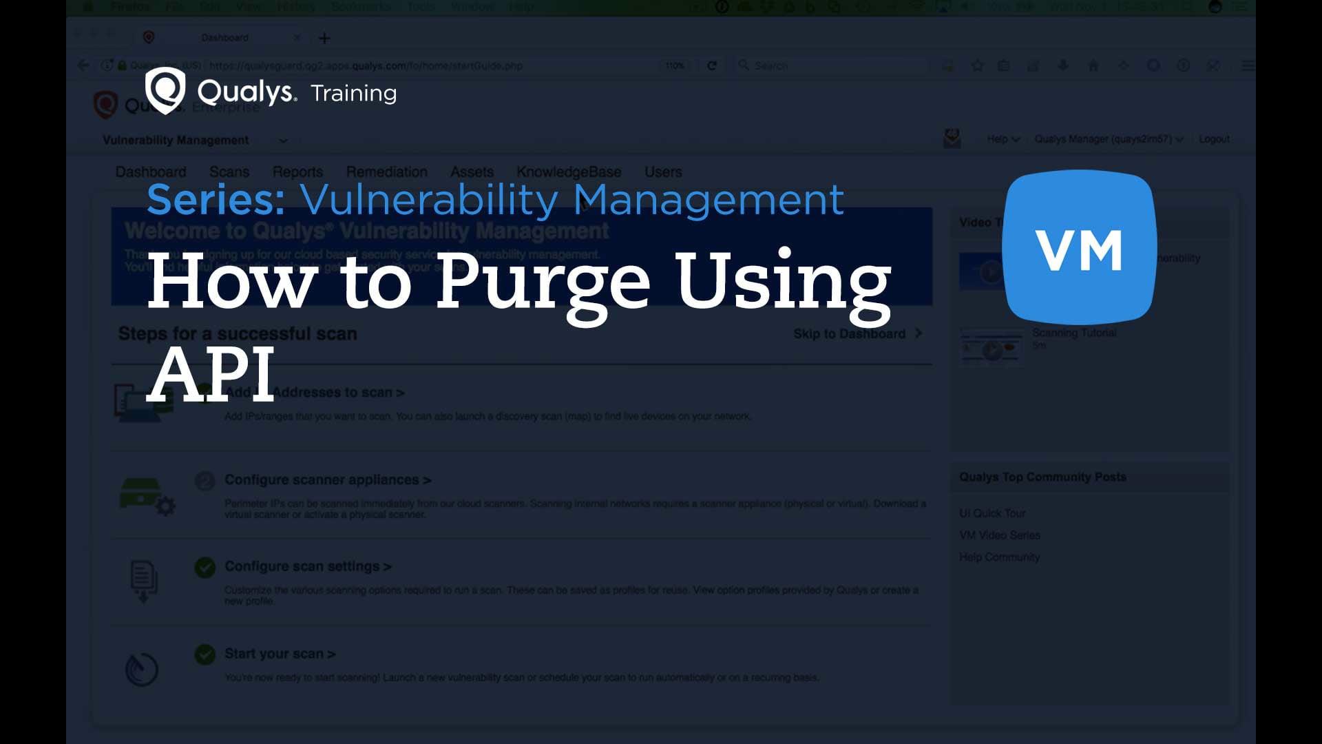 How to Purge Using API