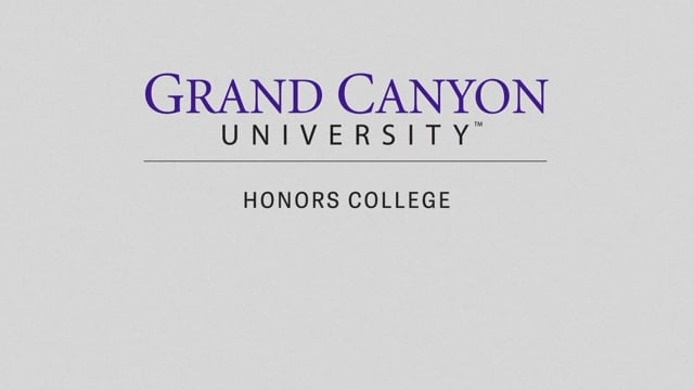 Button to play video: Honors College at GCU