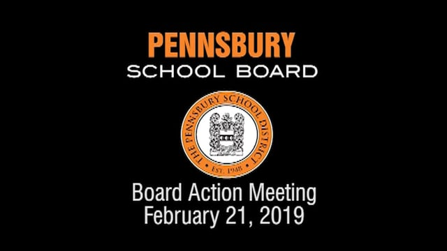 Pennsbury School Board Meeting for February 21, 2019