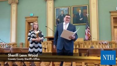 Lenn Wood Sworn In