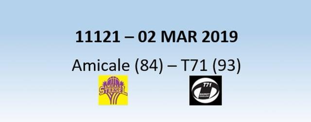 N1H 11121 Amicale Steinsel (84) - T71 Dudelange (93) 02/03/2019