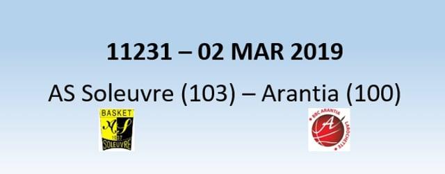 N1H 11231 AS Soleuvre (103) - Arantia Larochette (100) 02/03/2019