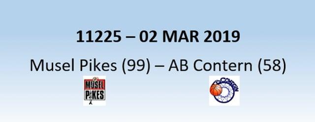 N1H 11225 Musel Pikes (99) - AB Contern (58) 02/03/2019