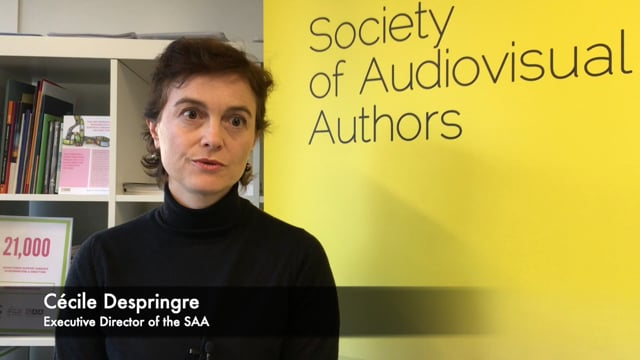 Cécile Despringre, Executive Director of the SAA